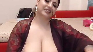 BBW Indian plays with toy greater than webcam