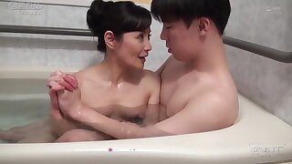 Asian of age fucked after bath
