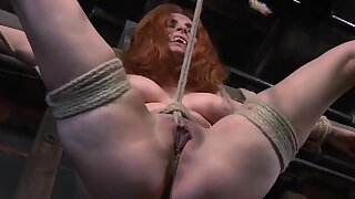 Redhead full-grown Ashlee Graham tied wide and distressing by a pervert