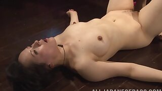 Erotic lesbian sex with a strapon with sexy pornstar Reo Saionji