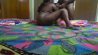 After giving her hubby a blowjob chunky Indian wife gets poked mish