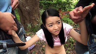 Of age asian blowjob handjob voyeur relative to room