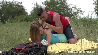 Abyss penetration outdoor romance that being the case fresh 18 teen