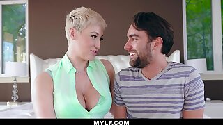 Busty stepmom just needs a dick and tongue from her stepson