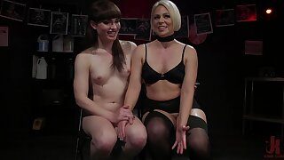 Scorching hot mistress introduces will not hear of transsexual slave to will not hear of submissive side