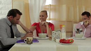 Kathia fucks her husband twin confrere