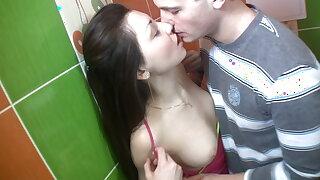 Hard scene in rest room