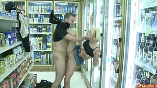 Quickie fucking in the public store with hot ass Jasmine Jolie
