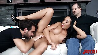 Cuckold husband lets his sexy wife Rio Lee have sex wit ha beam
