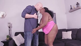 Undecorated coitus with a black BBW who wants at hand swallow