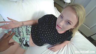 Big bottomed stepsister is anything pole coy and she loves a good dicking