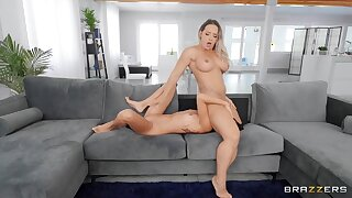 Wet Added to Wild Lesbian Dinner Party - Blonde Mummy Cali Carter Added to put some life into tits Asian Vina Sky scissoring