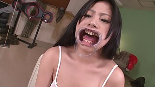 Japanese Young Unspecified Swallows Hot Jizz Wearing A Mouth Latchkey