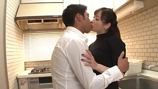 Japanese wife pleases hubby with sex when he returns home