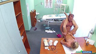 After hours medical exam leads to hot babe getting dicked hard by her doc