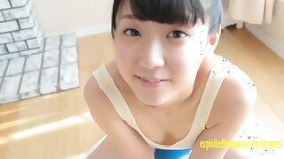 Rurika Mukushima makes her Gravure debut, she teases with her teddy one peace pulled tight between her labia. Her butt cheeks are spread she looks fab. She plays with a baton between her pussy lips, then strips naked and hides her penny. Exploitedteensasi
