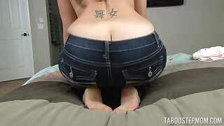 Home alone Mindi Mink plays just about her mammoth juggs and pussy