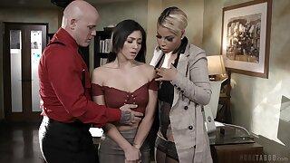MILFie boss Bridgette B makes assistant suck cock be advisable for their worker