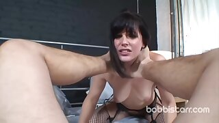 Bobbi likes to partiality fresh cum after she is done with sucking and fucking similarly to crazy